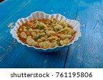 mama mia's minestrone  soup  ...   Shutterstock . vector #761195806