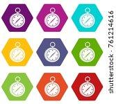 multifunction knife icon set... | Shutterstock .eps vector #761214616