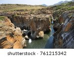 Small photo of Landscape showing Blyde river and Bourke's Luck Potholes