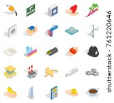automation icons set. isometric ... | Shutterstock .eps vector #761220646