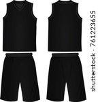 black basketball t shirt and... | Shutterstock .eps vector #761223655