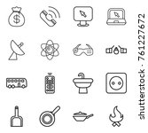 thin line icon set   money bag  ... | Shutterstock .eps vector #761227672