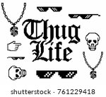 set with different gangster...   Shutterstock .eps vector #761229418