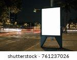 blank advertisement lightbox in ... | Shutterstock . vector #761237026