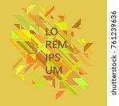 minimalist design  creative...   Shutterstock .eps vector #761239636