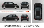 mini car vector mock up for... | Shutterstock .eps vector #761249722