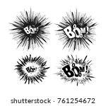comic speech bubble stars.... | Shutterstock .eps vector #761254672