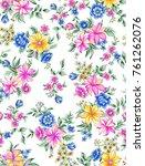 seamless floral pattern   Shutterstock . vector #761262076