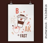 modern typography coffee poster ...   Shutterstock .eps vector #761268616