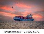 logistics and transportation of ... | Shutterstock . vector #761275672