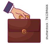 businessman hand with portfolio ... | Shutterstock .eps vector #761284666