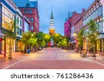 burlington  vermont  usa at... | Shutterstock . vector #761286436