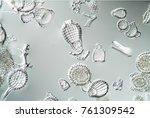 various radiolarians in the... | Shutterstock . vector #761309542