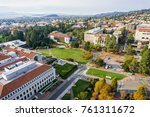 Stock photo aerial view of buildings in university of california berkeley campus on a sunny autumn day view 761311672