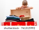 closet. order in the house ... | Shutterstock . vector #761315992