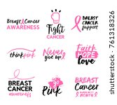 breast cancer awareness month... | Shutterstock .eps vector #761318326