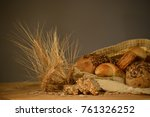 natural healthy food | Shutterstock . vector #761326252
