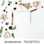 Christmas Composition. Flat La...