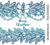 merry christmas. vector... | Shutterstock .eps vector #761330302