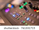 audio mixer panel with many... | Shutterstock . vector #761331715