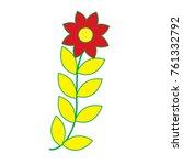 flower leaves decoration... | Shutterstock .eps vector #761332792
