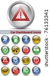 Car dashboard icons. Vector set