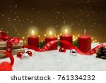 third advent christmas... | Shutterstock . vector #761334232