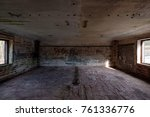 inside a bunker in the fort... | Shutterstock . vector #761336776