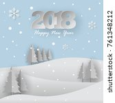 happy new year 2018 background  ... | Shutterstock .eps vector #761348212