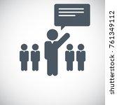 leader icon   eps10 vector  | Shutterstock .eps vector #761349112