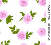 vector seamless simple pattern... | Shutterstock .eps vector #761351902