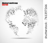abstract globe earth of dots.... | Shutterstock .eps vector #761357266