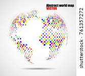 abstract colorful globe earth... | Shutterstock .eps vector #761357272