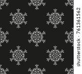 snowflake winter design season... | Shutterstock .eps vector #761361562