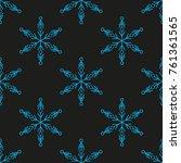 snowflake winter design season... | Shutterstock .eps vector #761361565