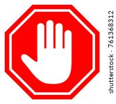 the stop sign is prohibited. | Shutterstock . vector #761368312