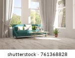 idea of white room with sofa... | Shutterstock . vector #761368828