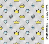 vector seamless pattern with... | Shutterstock .eps vector #761374996