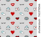 vector seamless pattern with... | Shutterstock .eps vector #761378566