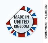 made in united kingdom of great ... | Shutterstock .eps vector #761381302