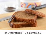 cockroach on food in the... | Shutterstock . vector #761395162