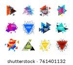 sacred geometry triangle... | Shutterstock .eps vector #761401132