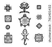 ancient mexican vector... | Shutterstock .eps vector #761401432