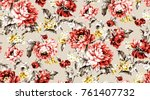 flowers pattern.for textile ... | Shutterstock . vector #761407732