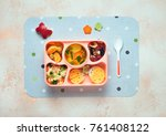 Open Lunch Box With Healthy Ki...