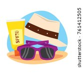 travelling and adventure icon... | Shutterstock .eps vector #761412505