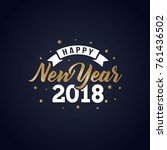 Happy New Year 2018 Golden...