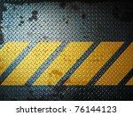 dark gray grunge steel floor... | Shutterstock . vector #76144123