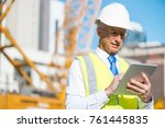 senior engineer man in suit and ... | Shutterstock . vector #761445835