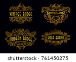 art deco badges modern... | Shutterstock .eps vector #761450275